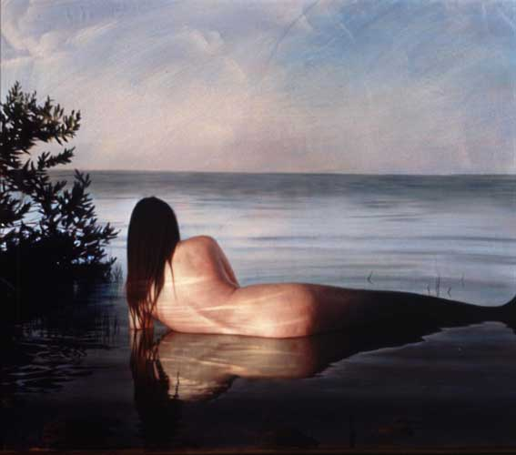 Mermaid 1, Painting by Robert Schoeller