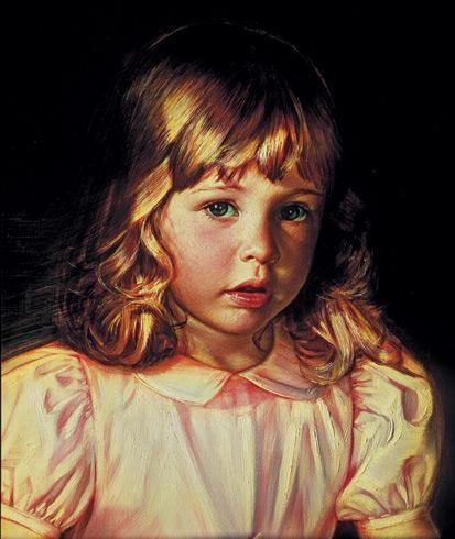 Schoeller painting little girl portrait little girl portrait 129 face