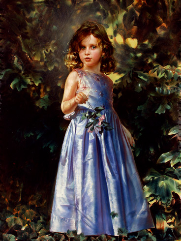 Schoeller painting little girl portrait little girl portrait 159