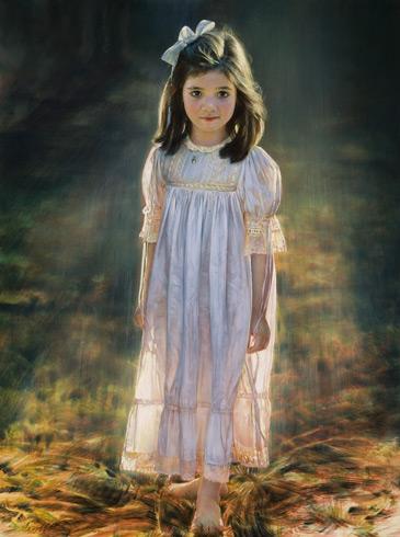Schoeller painting little girl portrait little girl portrait 164